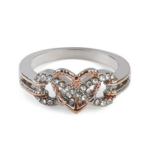 Jewelry - Infinity Heart CZ Engagement Wedding Ring